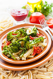 Pasta with broccoli and bulgarian pepper