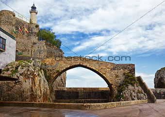 Castro Urdiales lighthouse and bridge