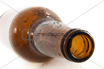 empty brown beer bottle
