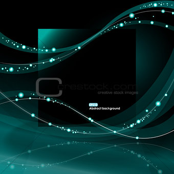 Abstract EPS10 glowing waves background