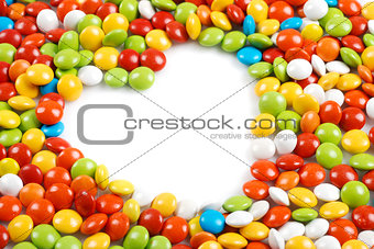 Heart in mm candies