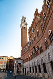 Siena City Hall on Piazza del Campo, Tuscany, Italy