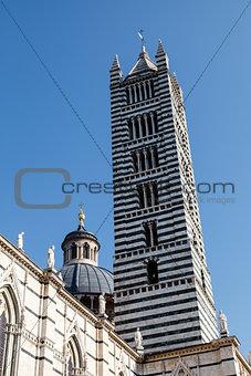 Beautiful Santa Maria Cathedral in Siena, Tuscany, Italy