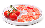 Fresh tomato prepared to dehydrated