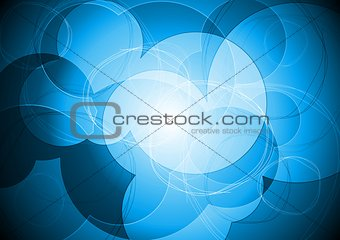 Vibrant blue circle design