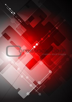 Abstract red tech backdrop