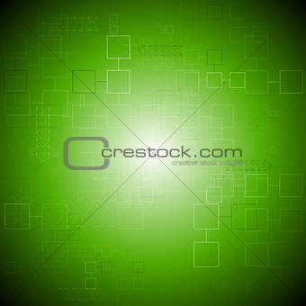 Green vector tech background