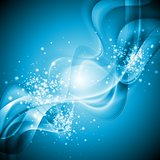 Blue shiny wavy background