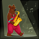 Musician Bear.