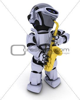 Robot playing the saxophone