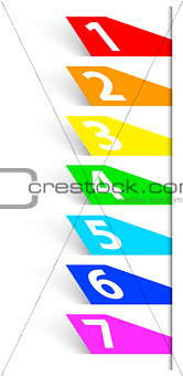 Abstract numbered colorful banners