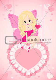 greeting card with a fairy