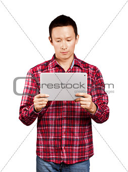 Asian Man With Touch Pad