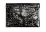 Crocodile leather clutch