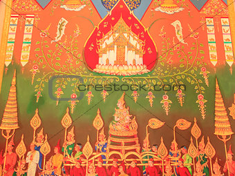 Traditional Thai painting art