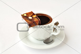 A Cup of Coffee with Panforte