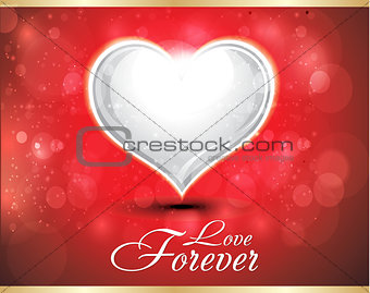 abstract glossy heart background with sparkle