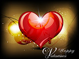 abstract glossy heart background