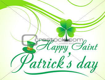 abstract s.t.patricks day background with floral