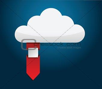 Cloud ribbon illustration
