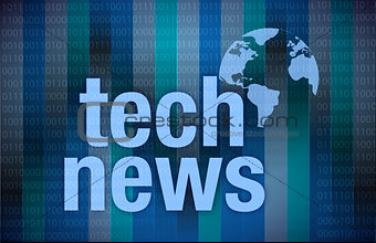 Tech News on digital background