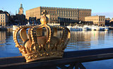 Golden crown in Stockholm city