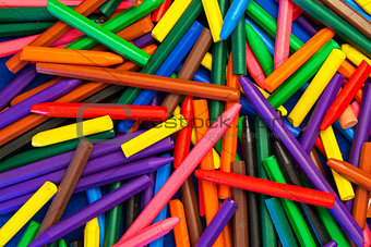 Background Texture - Color Wax Crayons, random pattern abstract.