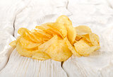 Potato chips on a table