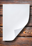 Sheet of paper on table
