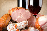 Wine and meat products