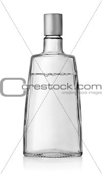 Vodka bottle with a cover