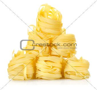 Pile of pasta tagliatelle