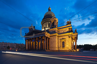 St. Isaac's Cathedral on a white night