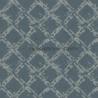 abstract grunge seamless background with diagonal grid