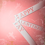 Happy Valentine's Day paper strips eps10 vector illustration