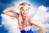 Australian Navy Girl Saluting Australia Day