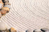 Zen garden close-up