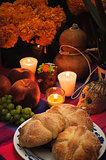 Day of the dead offering altar (Dia de Muertos)