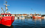 Faaborg harbour in Denmark