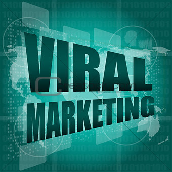 Marketing concept: words Viral Marketing on digital screen