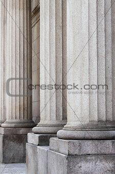 Granite roman columns