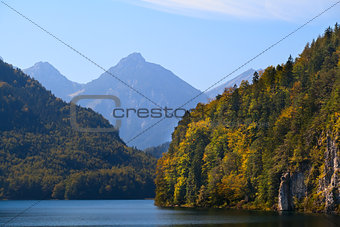 cliffs on Alpsee in Bavaria