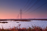 high-voltage electricity line