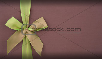 Cover gift box with green bow