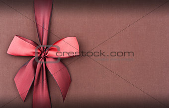 Cover gift box with red bow