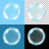 bubble on different types of background
