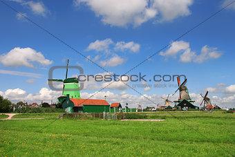 Zaanse Schans village. Netherlands.