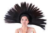 scatter hair