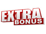 extra bonus red white banner - letters and block