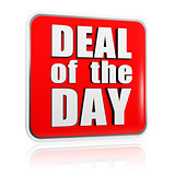 deal of the day - red banner